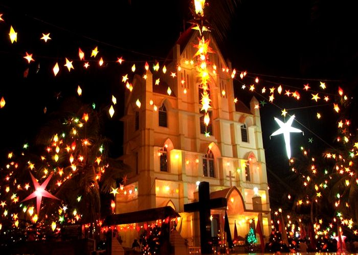 christmas celebrations in cochin, kerala.
